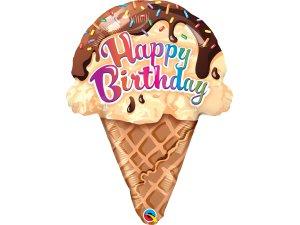 """27""""  fóliový balónek - Narozeninová zmrzlina"""