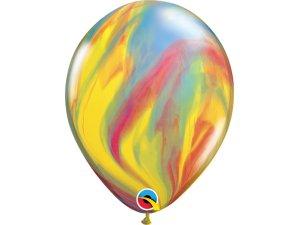 "11"" Balónek Qualatex mramor barevný 1ks"