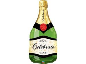 """39"""" fóliový balónek - CELEBRATE Champagne láhev"""