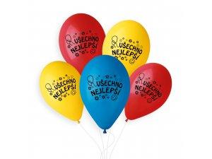 """OB balónky GS90 """"VŠECHNO NEJLEPŠÍ"""" 10 ks"""