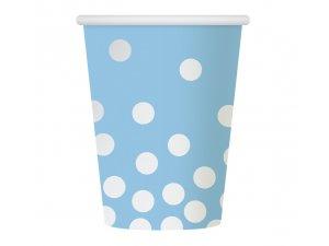 """Kelímky papírové ,,Stříbrné konfety"""" modrý 6ks"""