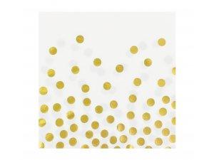 """Ubrousky papírové bílé ,,Zlaté konfety"""" 12 ks"""