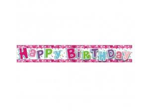Girlanda narozeniny růžové