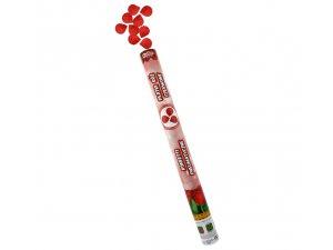 Konfety vystřelovací růže červené 60 cm