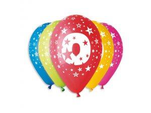 """OB balónky GS110 """"0"""" (5ks)"""