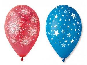 OB balónky GS110 HVĚZDY (5ks)