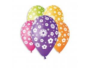 OB balónky GS110 KVĚTINY (5ks)