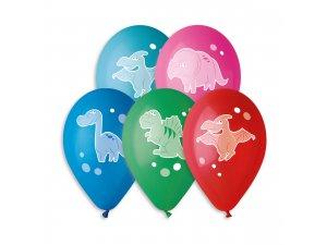 OB balónky GS110 VESELÍ DINOSAUŘI (5ks)