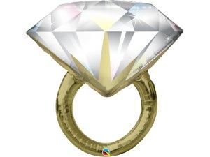 """37"""" fóliový balónek - svatební prsten"""