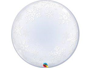 """24"""" DECO bublina - Sněhové vločky"""
