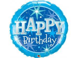 "36"" Fóliový balónek kruh narozeniny modré"