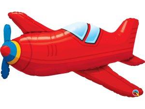 """36"""" Fóliový balónek letadlo červené"""