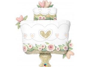 """41"""" Fóliový balónek - Třpytivý svatební dort"""