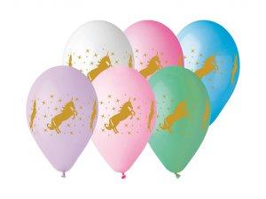 OB balónky GS110 ZLATÝ JEDNOROŽEC (5ks)