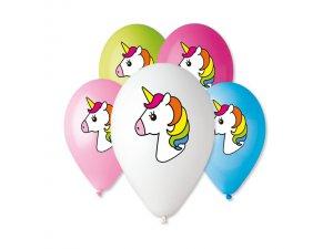 Balónek pastel 30 cm JEDNOROŽEC potisk (100ks/bal)