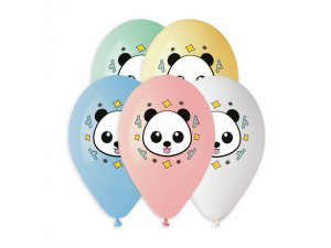 Balónek pastel 33 cm PANDA potisk (50ks/bal)