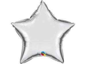 """20"""" fóliový balónek - HVĚZDA STŘÍBRNÁ"""