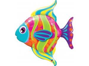 """43"""" Fóliový balónek - Barevná ryba"""