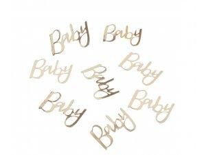 "Konfety nápis ,,Baby"" zlatý 14g"