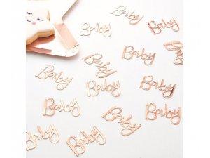 """Konfety nápis ,,Baby"""" růžovo-zlatý 14g - TW-826 2.jpg"""