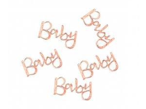 """Konfety nápis ,,Baby"""" růžovo-zlatý 14g"""