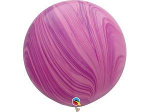 """30"""" Balónek - Růžový achát"""