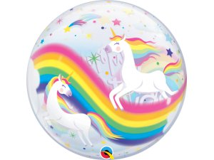 "22"" bublina - Birthday duhový jednorožec"