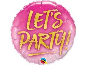 "18"" balónek fóliový - Let's Party!"