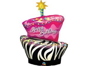 """41"""" Narozeninový dort - motiv zebra"""