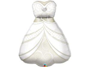 """38"""" fóliový balónek - Šaty nevěsty"""