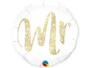 "18"" fóliový balónek Mr. lesklý zlatý"