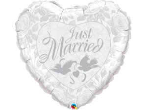 """36"""" fóliový balónek - Just Married"""