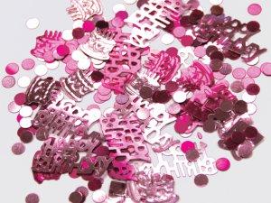 Konfety Happy Birthday růžové