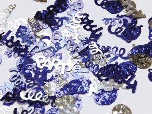 Konfety Party modré & stříbrné