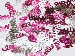 Konfety Party růžové & stříbrné