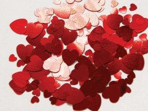 Konfety - červená srdce