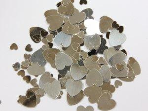 Konfety - stříbrná srdce