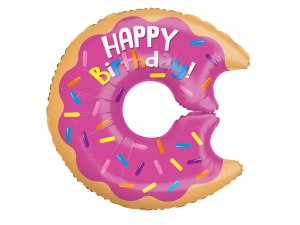 Balónek 66cm - Donut Happy Birthday