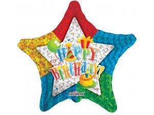 Hvězda 46cm - Birthday Party