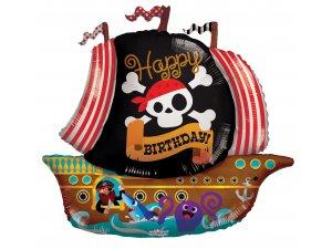 Balónek 91cm - Pirátská loď