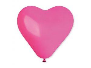 Balónek srdce 25 cm #007 fuchsiový (100ks/bal)