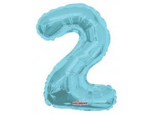 Číslice 2 modrá malá 35 cm