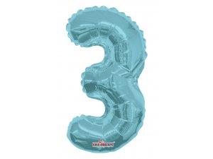 Číslice 3 modrá malá 35 cm