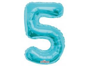 Číslice 5 modrá malá 35 cm