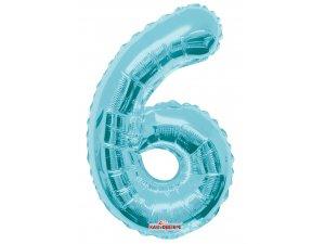 Číslice 6 modrá malá 35 cm