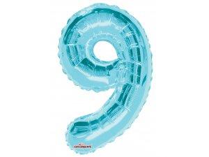 Číslice 9 modrá malá 35 cm