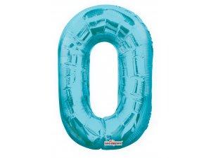 Číslice 0 modrá malá 35 cm