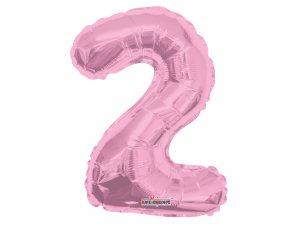 Číslice 2 růžová malá 35 cm