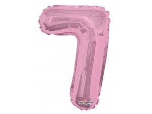 Číslice 7 růžová malá 35 cm