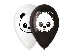 Balónek pastel 30 cm PANDA #001 #014 potisk (100ks/bal)